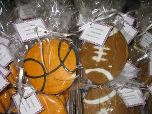 Basketball & Football Sugar Cookies